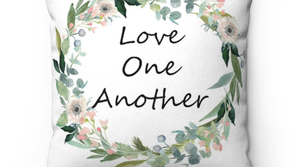 Love One Another Square Throw Pillow
