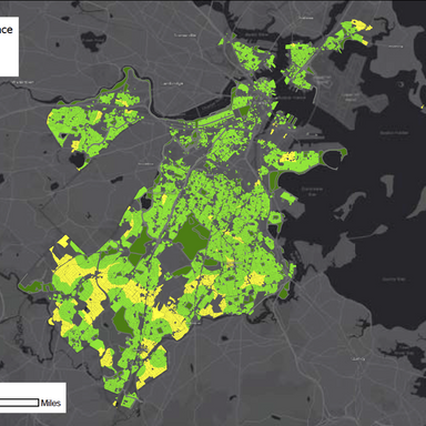 Access to Open Space in Dorchester Neighborhood