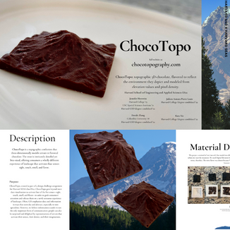 ChocoTopo: DEM Data and Satellite Imagery Pixel Values to Topographic Chocolate