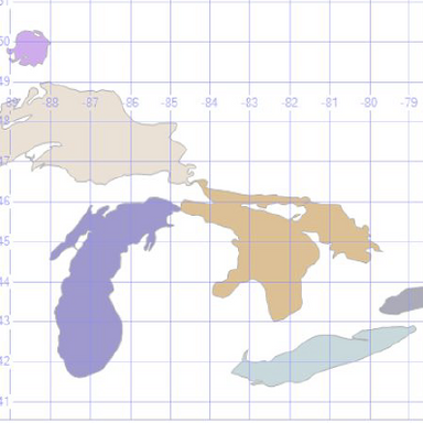 Spatial Database Visualization of North American Rivers Using SQL