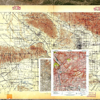 Georeferenced Overlay of Historical USGS Topographic Maps of My Grandmother's 1950s Boyle Heights Home