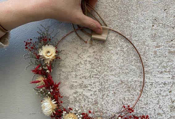 Couronne de fleurs séchées 03