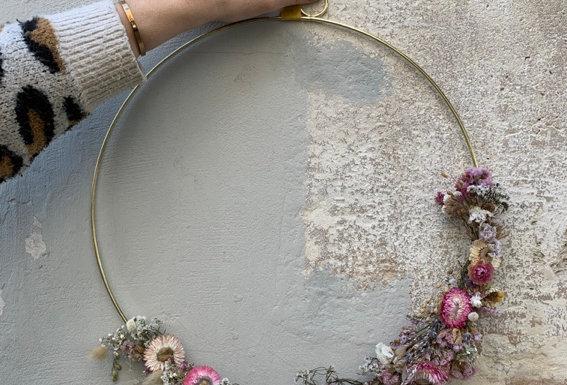 Couronne de fleurs séchées 02