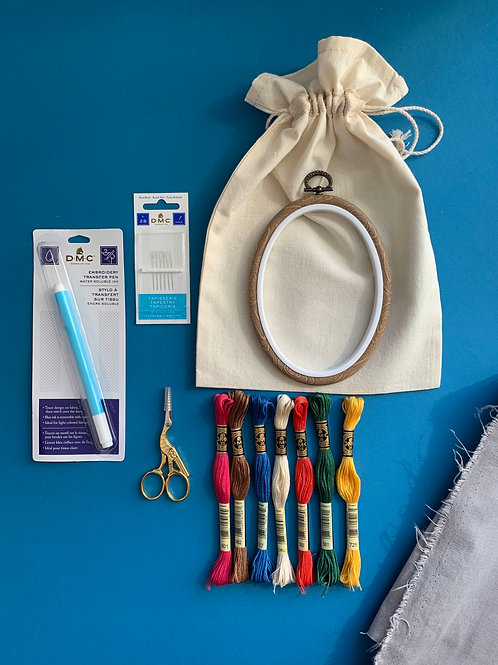 Набор для ручной вышивки PRO OVAL