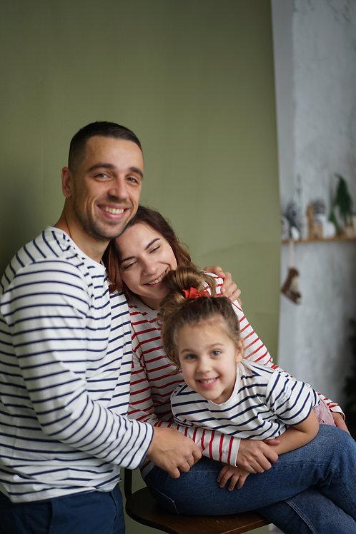 Family look: мужская, женская и детская с коротким рукавом