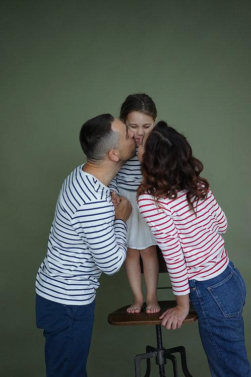 Family look: мужская, женская и детская с длинным рукавом