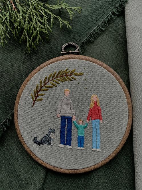 Family story вышивка в пяльцах