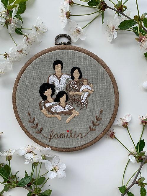 Family nest вышивка в пяльцах