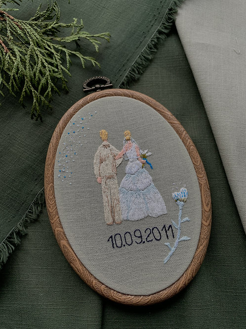Wedding вышивка в пяльцах