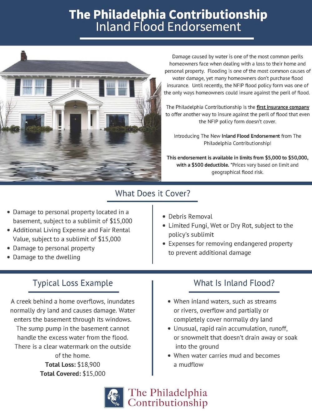 The Philadelphia Contributionship Inland Flood Endorsement