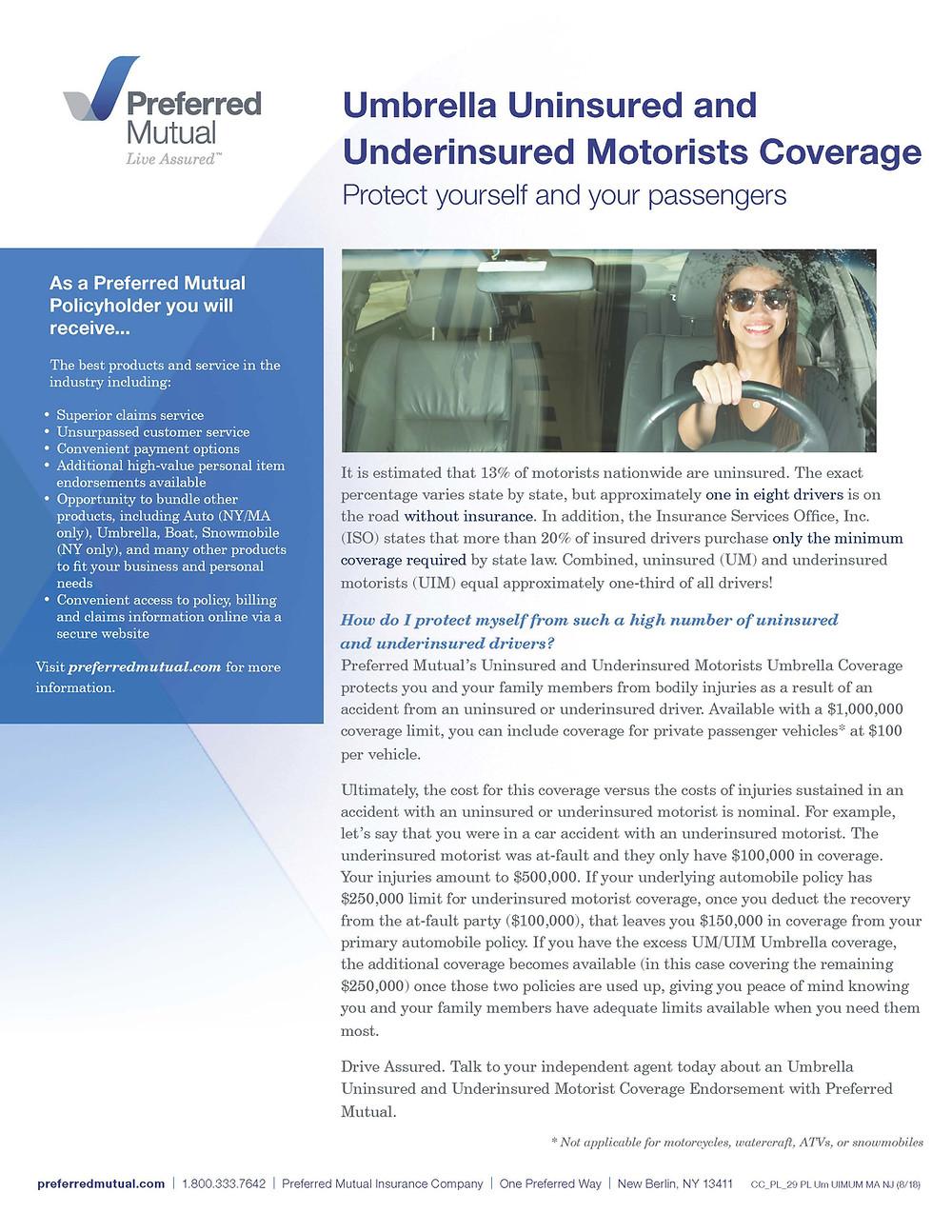 Umbrella Uninsured Underinsured Motorist Coverage