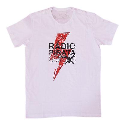 Camiseta Branca - Estampa Turnê Radio Pirata 35 Anos