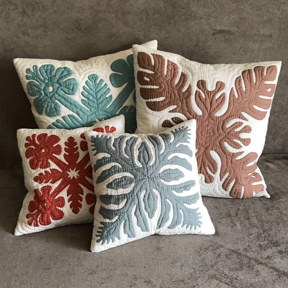 Pillows with Hawaiian Quilting