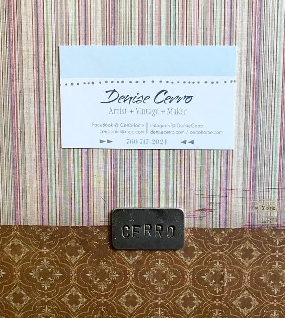 CERRO signature plate with card