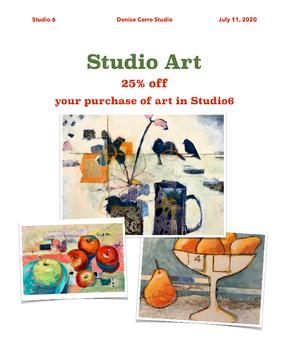 25% Studio Art Sale