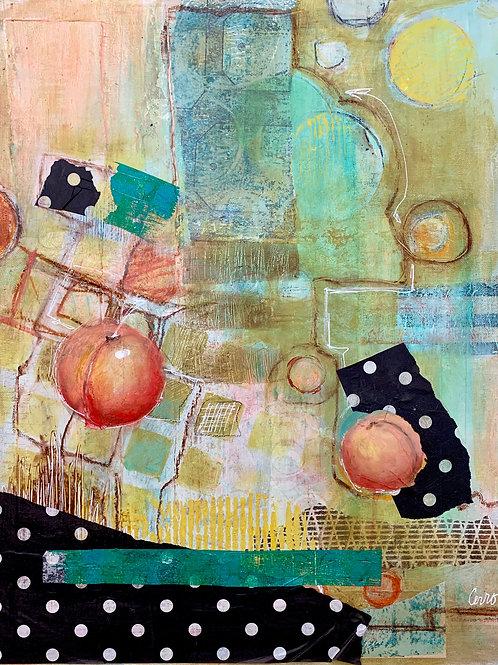 Peaches + Polka Dots