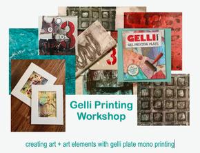 Gelli Plate Mono Printing