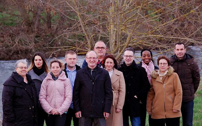 photo de groupe des élus du 15 mars 2020