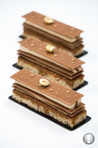 Millefeuille chocolat praliné
