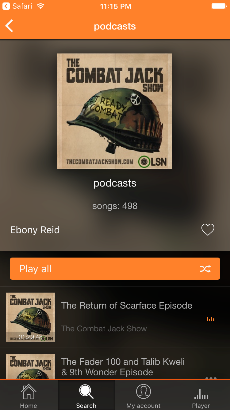 Soundy Playlist Detail Screen