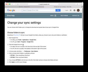 Evermusic: Change Google Drive Sync Settings