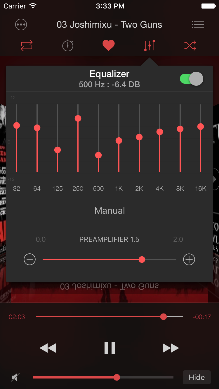 Soundy: custom equalizer preset