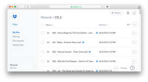 Move your music to Dropbox