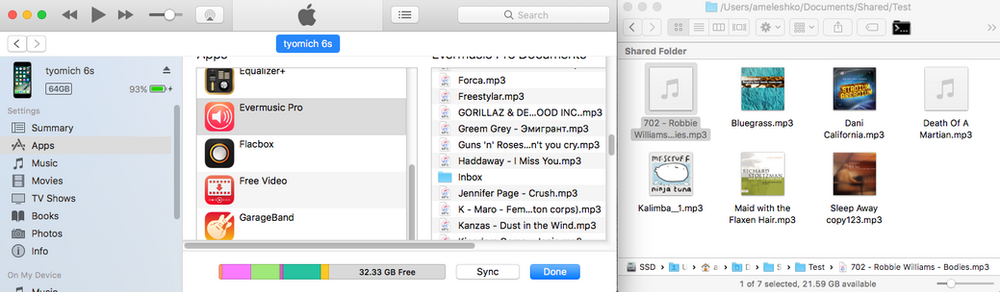 How to play local files (itunes files) on my iPhone