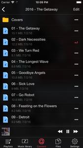 Select audio folder