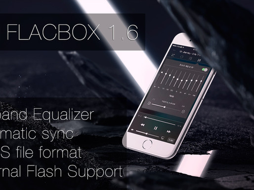 Flacbox 1.6 for iOS: Automatic Music Library Sync, 10-band Equalizer, OPUS File Format, External Fla