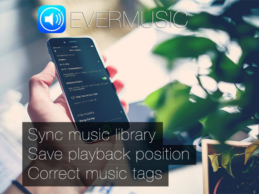 Evermusic 2.3 – Sync your Music Library, Save playback position, Correct music tags