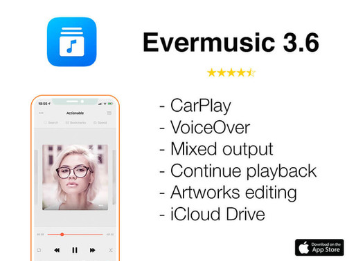 Evermusic 3.6 Whats new
