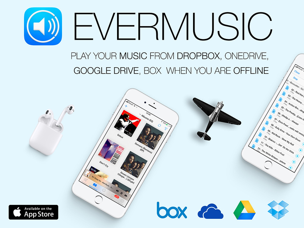 Evermusic - Play music from Dropbox on your iPhone when you are offline