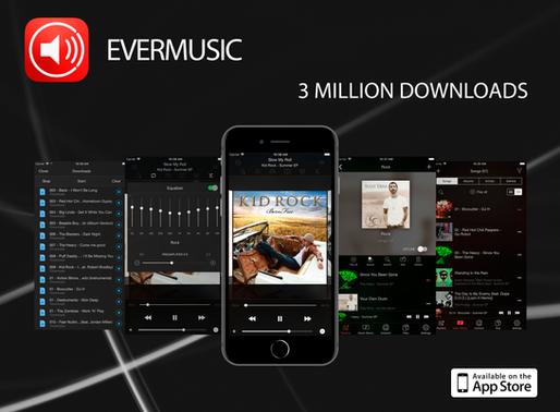 Evermusic 3 million downloads