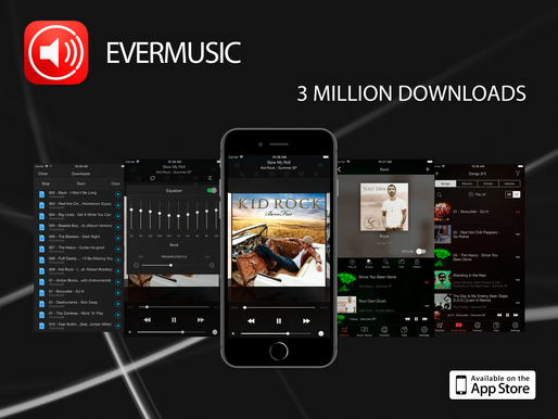 Evermusic 3 million downloads