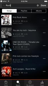 Soundy: Soundcloud search