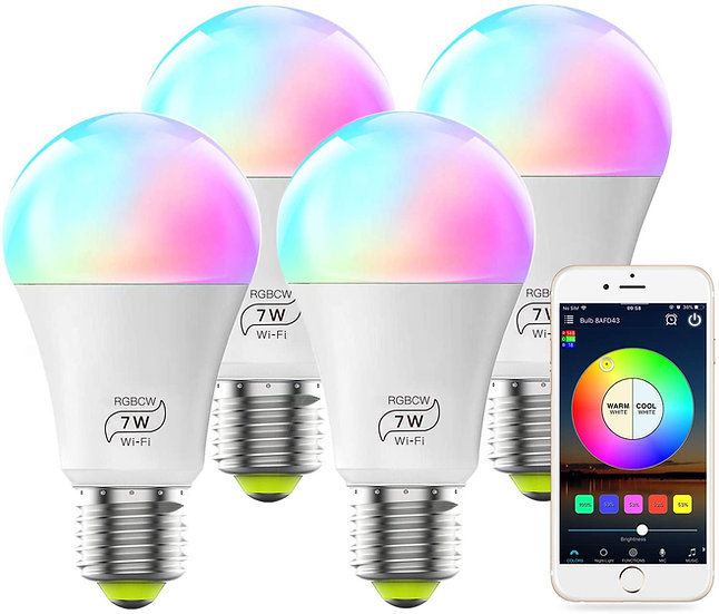 60 Watt Wifi Multi Color 4 Pack