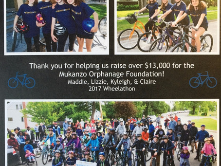 The 2017 Wheelathon....we couldn't have done it WITHOUT YOU!!