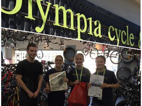 Olympia Cycle & Ski donates!!