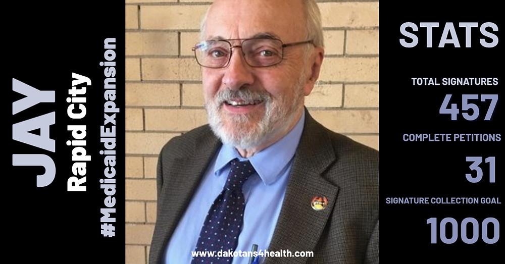 Medicaid expansion petition circulator in Rapid City, South Dakota
