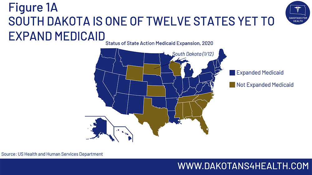 South Dakota is one of twelve states that has yet to expand Medicaid under the Affordable Care Act #MedicaidExpansion #MedicaidExpansionSD