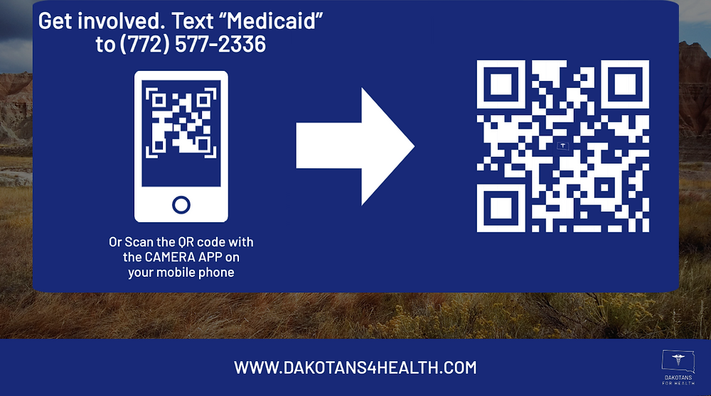 Dakotans for Health volunteer QR code.