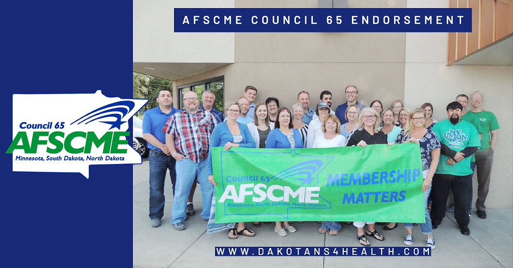 AFSCME Council 65 is proud to announce its partnership with Dakotans for Health, to grow the grassroots effort to expand Medicaid in South Dakota.