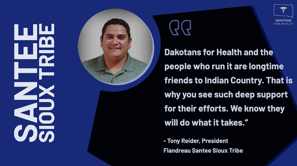 Dakotans for Health and the people who run it are longtime friends to Indian Country. That is why you see such deep support for their efforts. We know they will do what it takes.