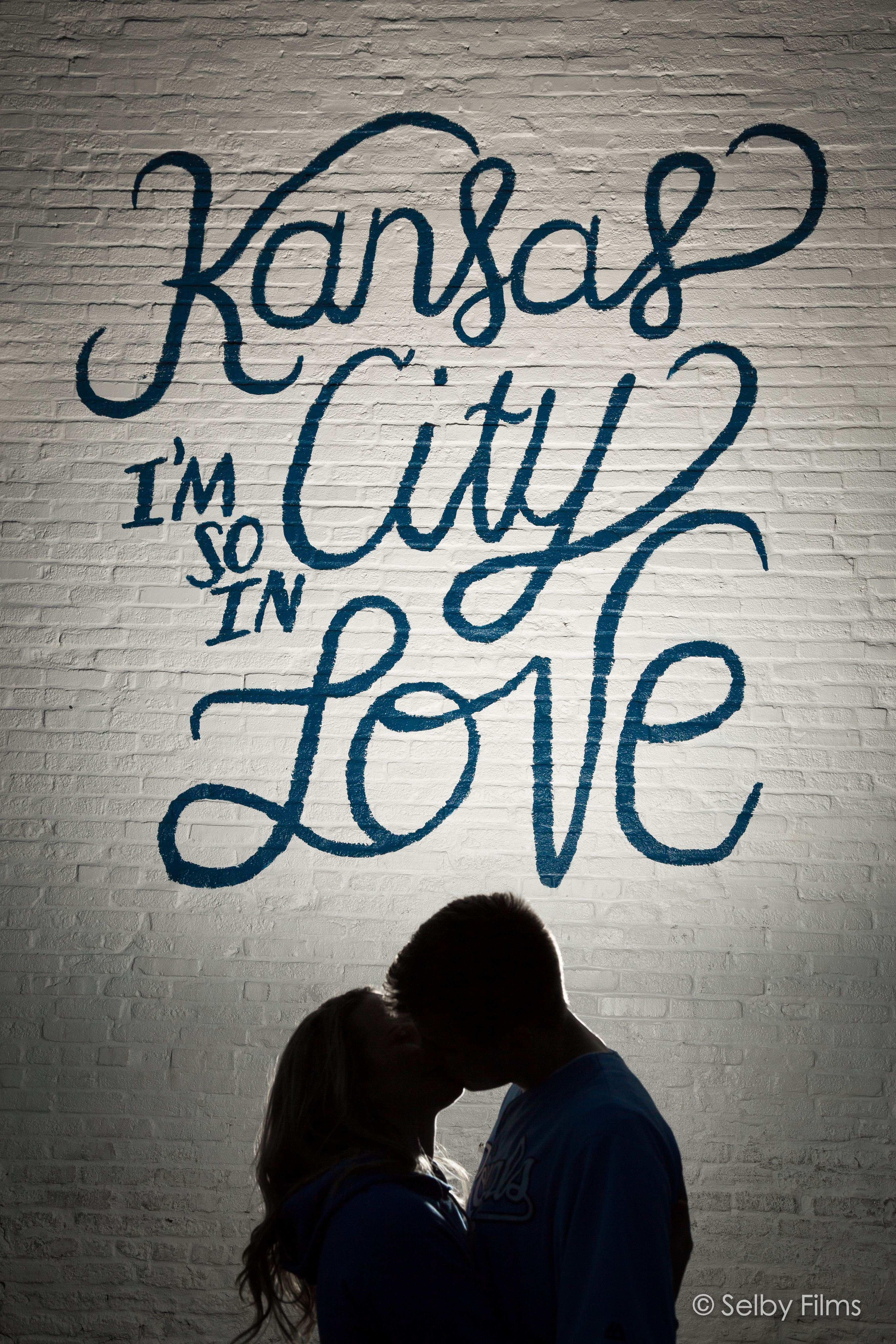 Kansas City So in love mural wedding photography