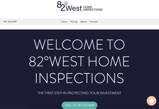 Branding and Website Design for 82°West Home Inspections