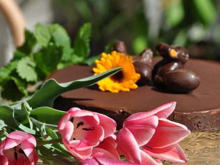 Easter Raw Chocolate Cake