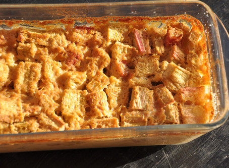 Rhubarb clafoutis anyone? (gluten and dairy free)