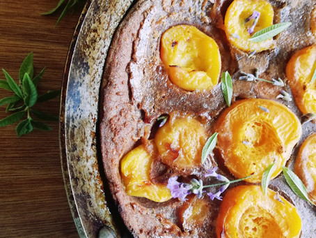 Easy Apricot Pancake with Verbena and Lavender