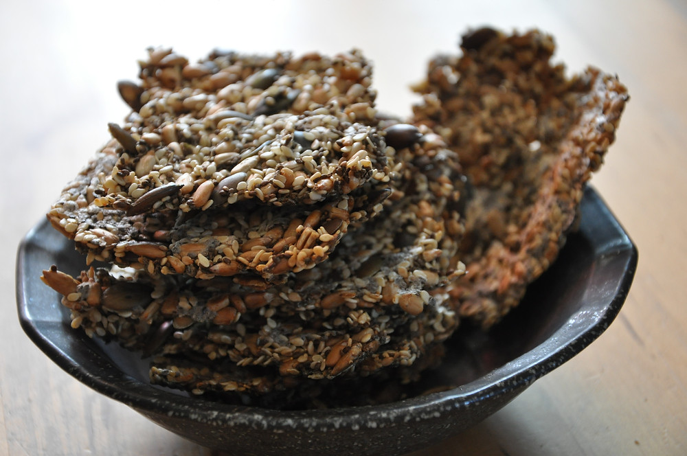 Chia seed crackers by Foodie in Provence